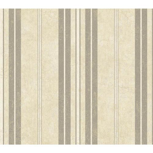 York Wallcoverings Passport Stucco White, Wheat Gold, Pewter Silver and Slate Gray Wallpaper: Sample Swatch Only