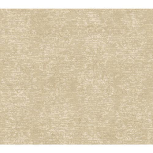 York Wallcoverings Passport Camel Brown, Wheat Gold and Taupe Wallpaper: Sample Swatch Only