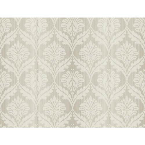York Wallcoverings Passport Slate Gray, Antique White and Brown Wallpaper: Sample Swatch Only