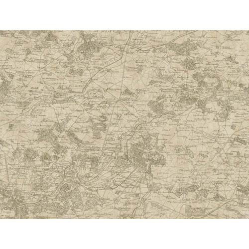 York Wallcoverings Passport Tan, Brown and Cream Wallpaper: Sample Swatch Only