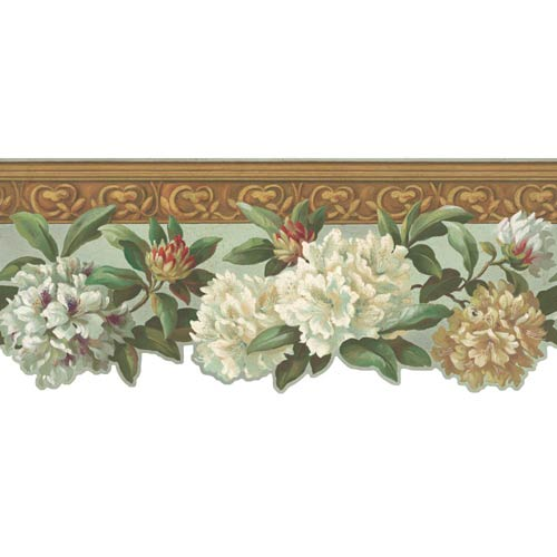York Wallcoverings Inspired by Color Linen White, Green and Beige Wallpaper: Sample Swatch Only