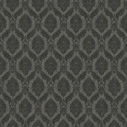 York Wallcoverings Tailored Gray Damask Wallpaper