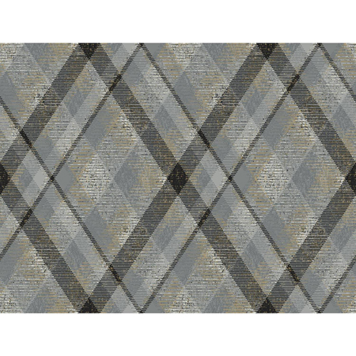 York Wallcoverings Tailored Gray Plaid Wallpaper