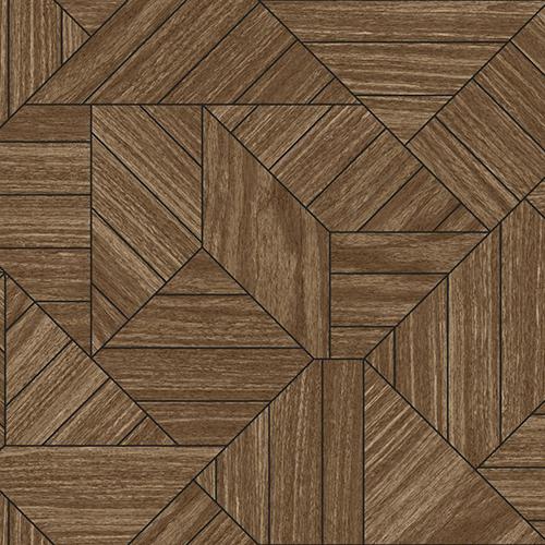 York Wallcoverings Tailored Brown Geometric Wallpaper