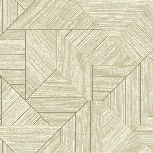 York Wallcoverings Tailored Beige Geometric Wallpaper