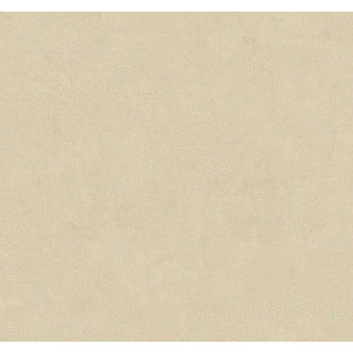 York Wallcoverings Handpainted III Soft Gold and Light Grey Crackle Wallpaper: Sample Swatch Only