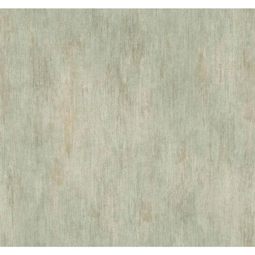 York Wallcoverings Handpainted III Grey and Aqua Classic Fleur De Lis Wallpaper: Sample Swatch Only