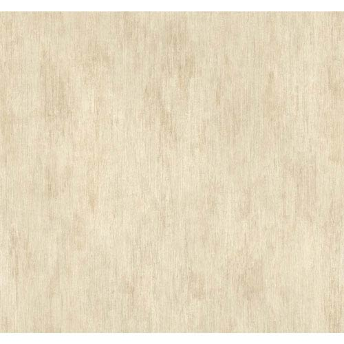 York Wallcoverings Handpainted III Cream and Taupe Classic Fleur De Lis Wallpaper: Sample Swatch Only