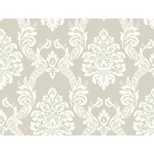 York Wallcoverings Pattern Play Ogee Damask Wallpaper
