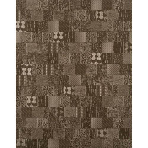 York Textures Bronze Patchwork Wallpaper