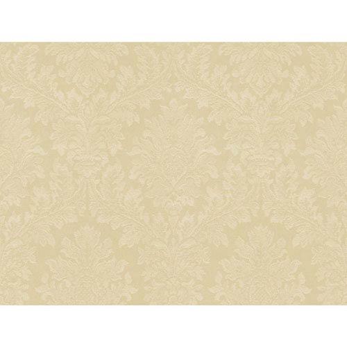 York Wallcoverings Opal Essence Ecru Tapestry Damask Wallpaper