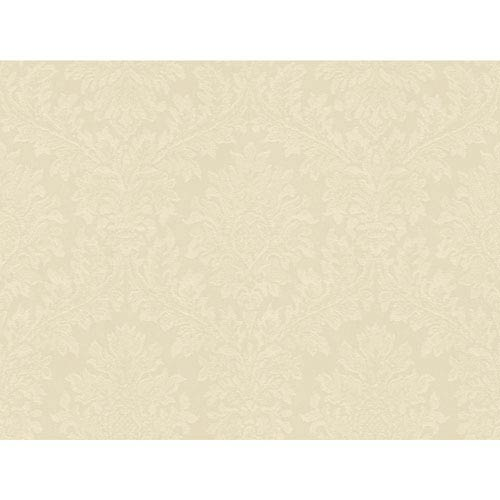 York Wallcoverings Opal Essence Cream Tapestry Damask Wallpaper: Sample Swatch Only