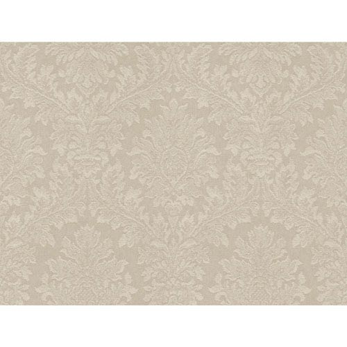 York Wallcoverings Opal Essence Taupe Tapestry Damask Wallpaper