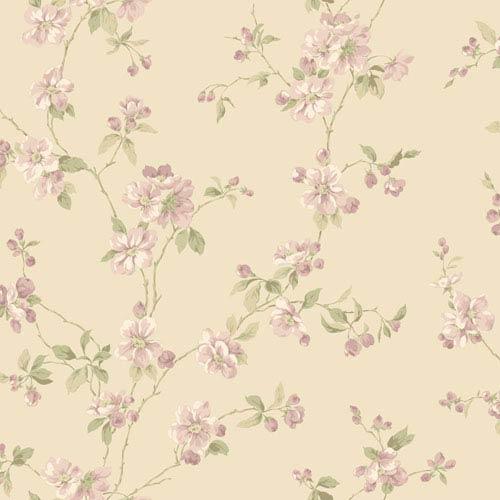 York Wallcoverings Opal Essence Beige Apple Blossom Wallpaper