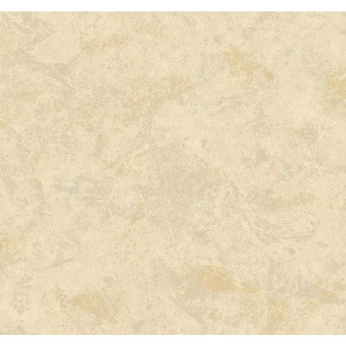 York Wallcoverings Opal Essence Grey and Tan Marble Crinkle Wallpaper: Sample Swatch Only