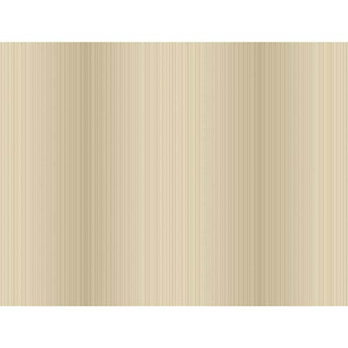 York Wallcoverings Opal Essence Soft Gold and Beige Ironwork Stria Wallpaper: Sample Swatch Only