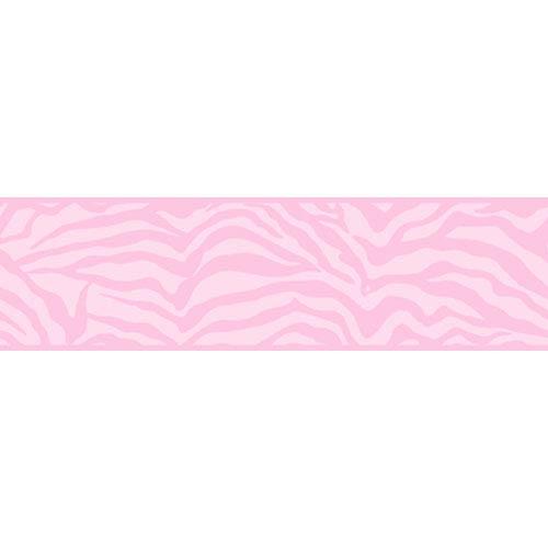 York Wallcoverings Friends Forever Pink Girly Glam Zebra Border