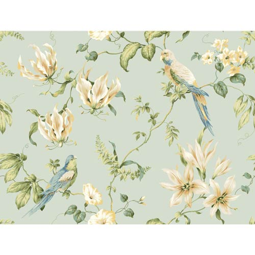 York Wallcoverings Inspired by Color Light Blue Background Wallpaper