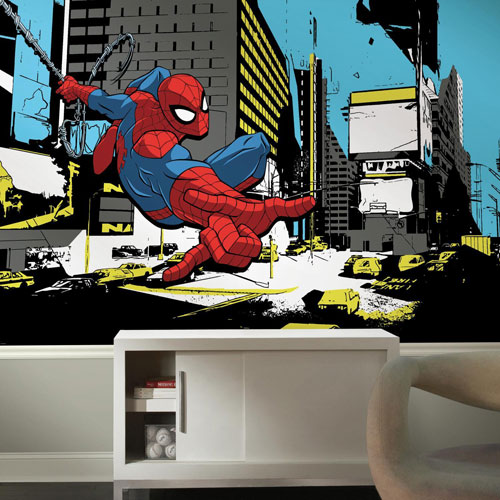 Spider-Man Classic XL Chair Rail Prepasted Mural