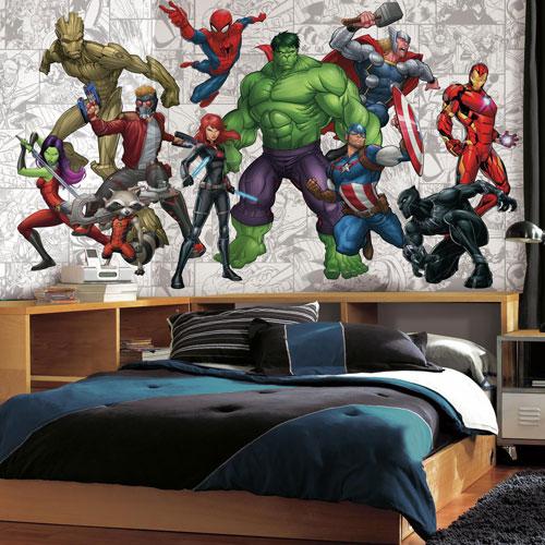 Marvel Hero XL Chair Rail Prepasted Mural