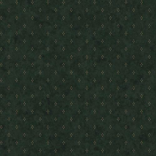 Welcome Home Olive Green, Parchment Tan and Black Dots with Crackle Wallpaper: Sample Swatch Only