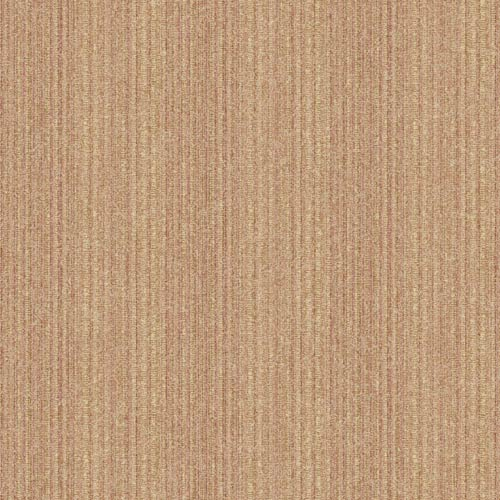 York Wallcoverings Sapphire Oasis Ecru and Coral Woven Stria Wallpaper: Sample Swatch Only