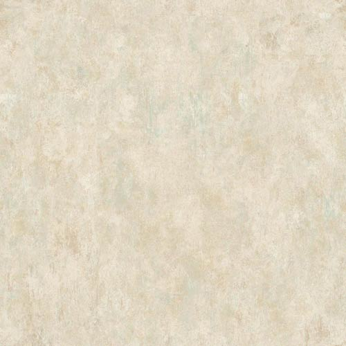 York Wallcoverings Sapphire Oasis Gold, Cream and Aquamarine Faux Marble Wallpaper: Sample Swatch Only