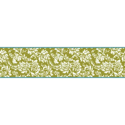 York Wallcoverings Bistro 750 Damask Border: Sample Swatch Only