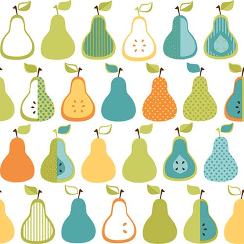 York Wallcoverings Bistro 750 Kitchen Pears Wallpaper