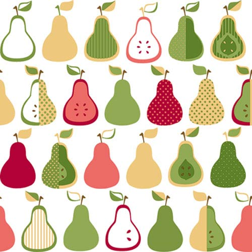 York Wallcoverings Bistro 750 Kitchen Pears Wallpaper: Sample Swatch Only