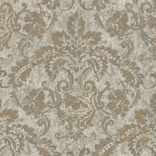 French Dressing Antique Damask Wallpaper: Sample Swatch Only