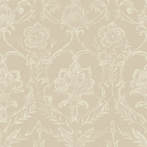 French Dressing Sheer Fabric Damask Wallpaper: Sample Swatch Only