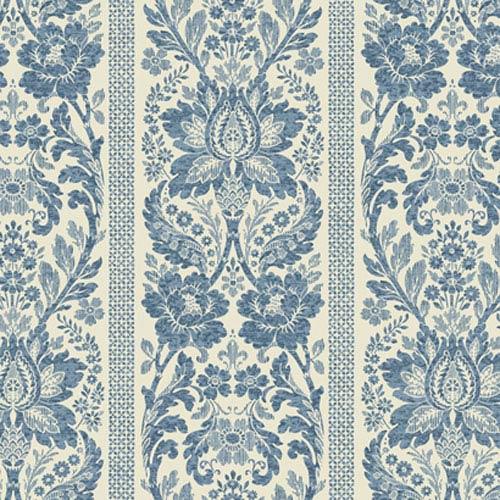 York Wallcoverings French Dressing Floral Damask Stripe Wallpaper