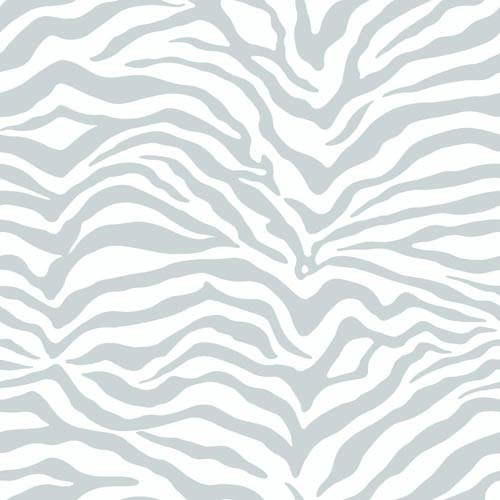 York Wallcoverings Inspired by Color Off White Zebra Skin Wallpaper: Sample Swatch Only