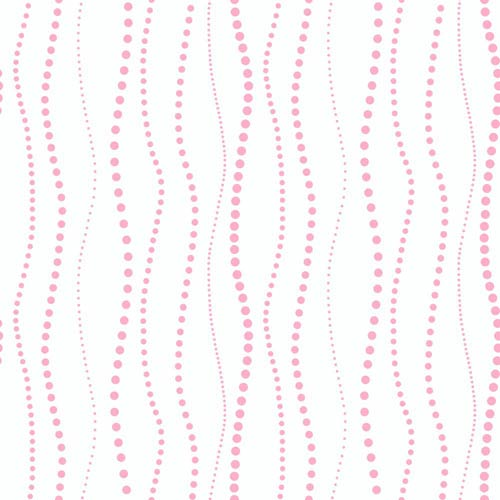 York Wallcoverings Inspired by Color Off White, Pink and Purple Dotty Stripe Wallpaper