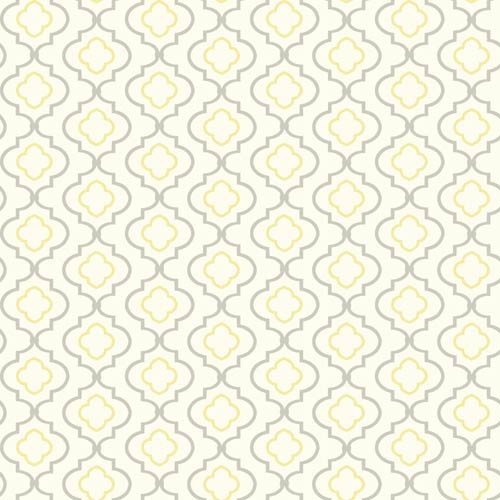 York Wallcoverings Kitchen And Bath White Yellow And Gray Small