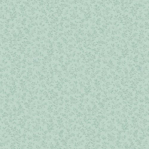 York Wallcoverings Kitchen and Bath Pale Aqua and Robin's Egg Blue Miniature Floral Vine Wallpaper: Sample Swatch Only
