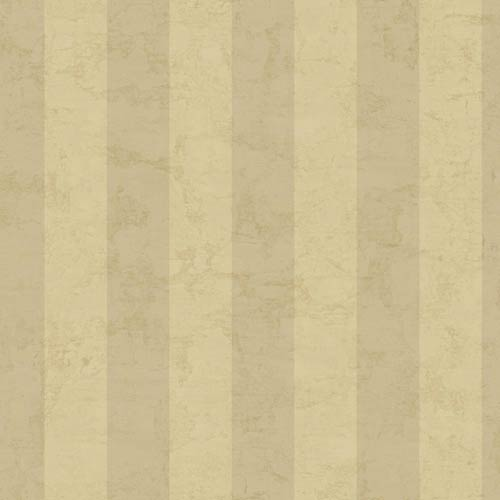 York Wallcoverings Kitchen and Bath Ecru and Tan Wide Stripe Wallpaper : Sample Swatch Only