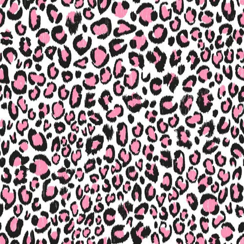 York Wallcoverings Cool Kids Snow, Strawberry and Licorice Leopard Wallpaper: Sample Swatch Only