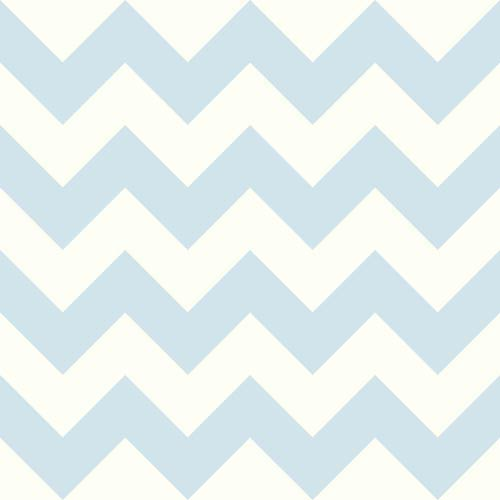 York Wallcoverings Cool Kids Snow and Sky Blue Chevron Wallpaper: Sample Swatch Only
