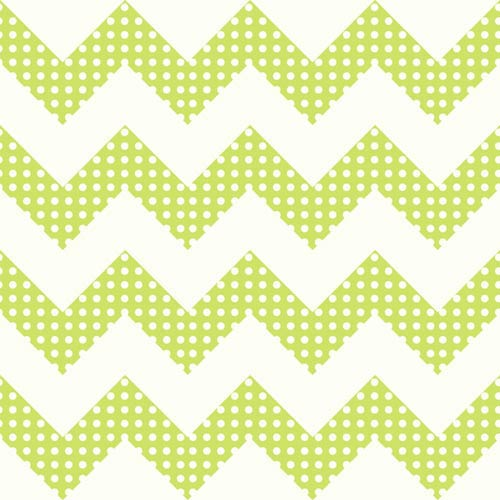 York Wallcoverings Cool Kids Snow and Pistachio Chevron Wallpaper: Sample Swatch Only
