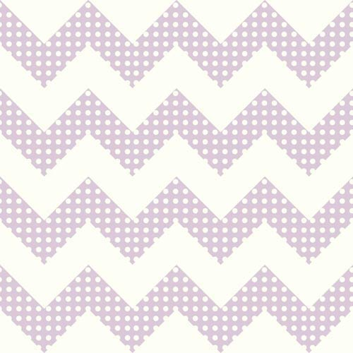 York Wallcoverings Cool Kids Snow and Lavender Chevron Wallpaper: Sample Swatch Only