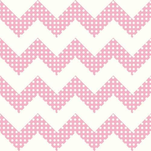 York Wallcoverings Cool Kids Snow And Bubblegum Pink Chevron Wallpaper