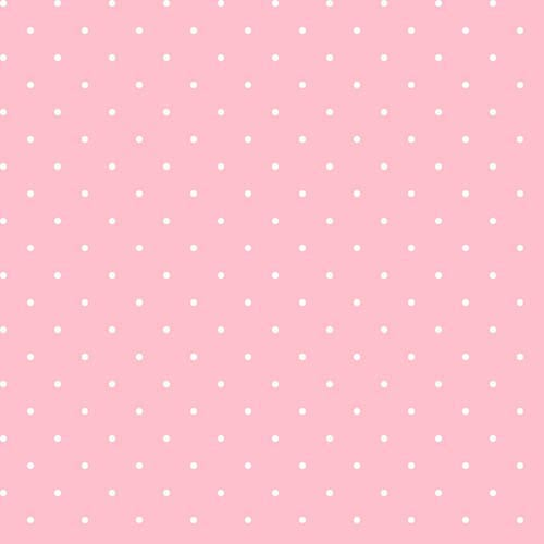 York Wallcoverings Cool Kids Blush Pink and Snow Dot Wallpaper: Sample Swatch Only