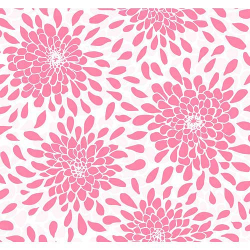 York Wallcoverings Cool Kids Pink Pearl, Pink Frost and Snow Toss The Bouquet Wallpaper