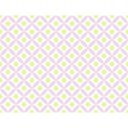 York Wallcoverings Cool Kids Snow, Pistachio and Lavender Celia Wallpaper
