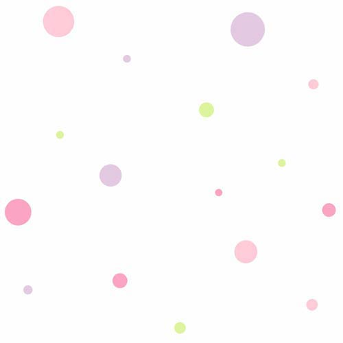 York Wallcoverings Cool Kids Snow, Kiwi, Blush Pink, Bubblegum Pink and Lavender Small Dot Variety Wallpaper: Sample Swatch