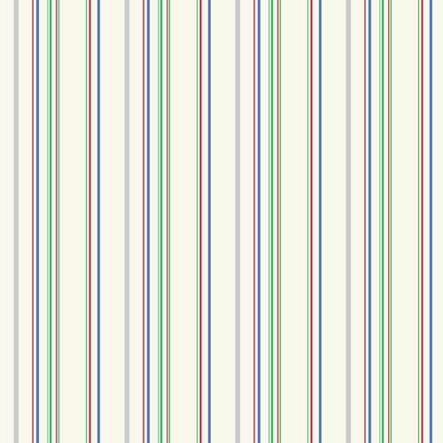 York Wallcoverings Cool Kids Ecru, Grey, Green, Blue and Red Wide Multi Stripe Wallpaper