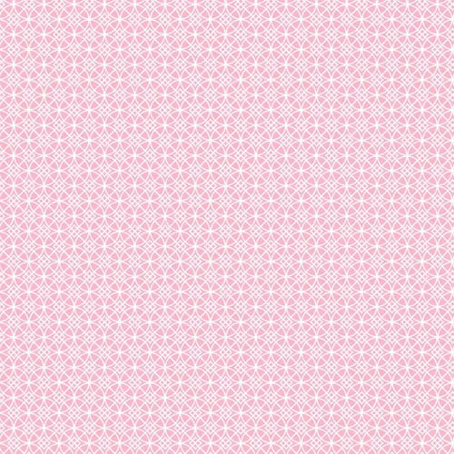 York Wallcoverings Cool Kids Bubble Gum and Snow Dena Geometric Wallpaper: Sample Swatch Only