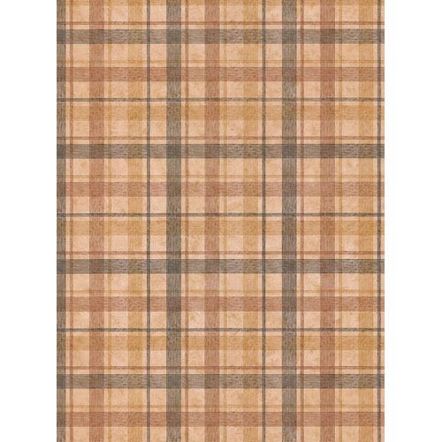 York Wallcoverings York Kids Brown and Black IV Woven Plaid Wallpaper: Sample Swatch Only